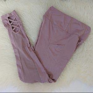 Pants - Mesh Panel Side Pockets Leggings